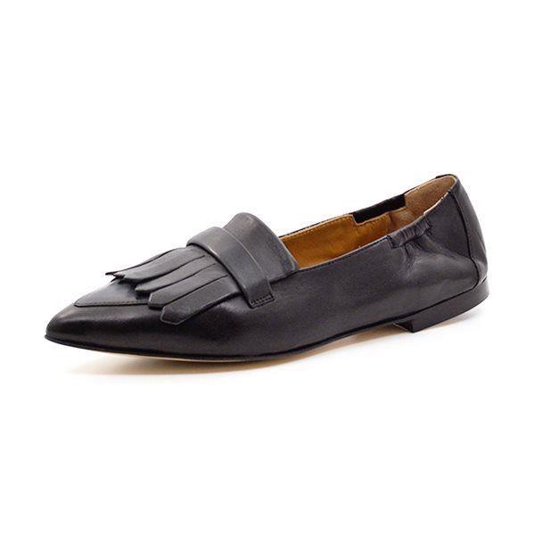 Pomme D\'Or  loafer m. frynser sort