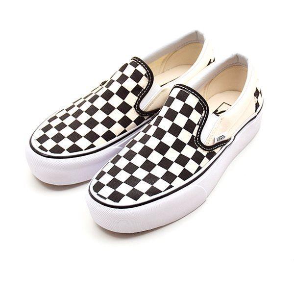 2ca843f2fe VANS Classic slip-on sneaker sort hvid ternet