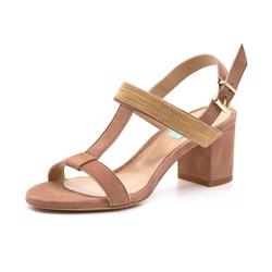 Apair sandal suede rose/gylden
