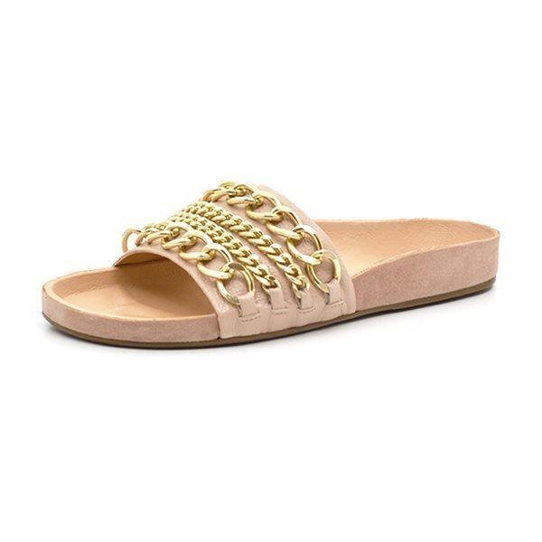 03b01749e4b Billi Bi sandal m. kæde guld
