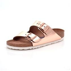 Birkenstock Arizona metallic kobber