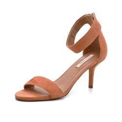 3457299f976e Pura Lopez sandal m. ankelrem mørk nude ruskind