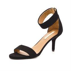 f078c8c8f23 Pura Lopez sandal m. ankelrem sort ruskind