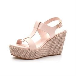 Apair sandal Wedge nude/lys rosa