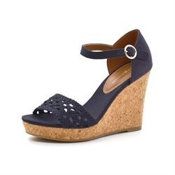 Tommy Hilfiger wedge sandal navy