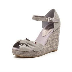 Tommy Hilfiger wedge sandal steel