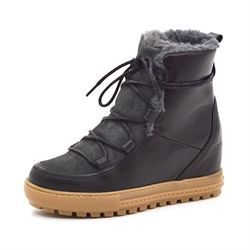 Aigle Laponwarm wedge støvlet sort