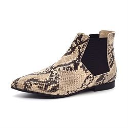Ivylee Polly chelsea boot snake sort/beige