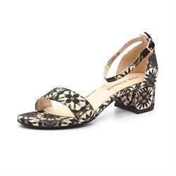 6a5a7dbf621 Sofie Schnoor sandal m. broderede blomster sort/guld