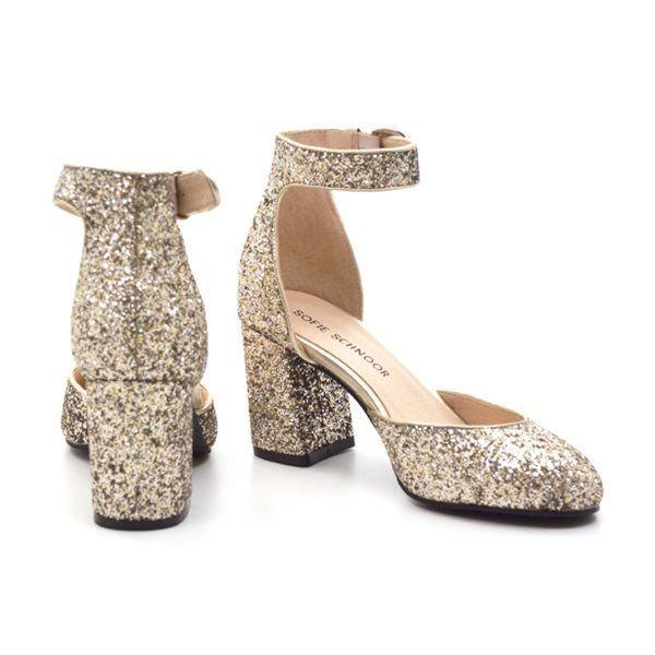 Sofie Schnoor sko champagne glimmer