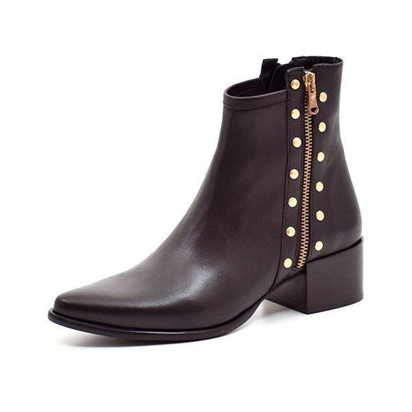 Lækre støvler i sort læder med Glimmer fra Manuela de Juan